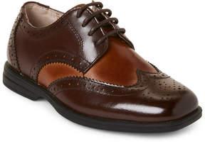 Florsheim Toddler/Kids Boys) Brown Reveal Wingtip Jr. Derby Shoes