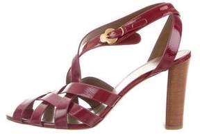 Salvatore Ferragamo Patent Leather Multistrap Sandals