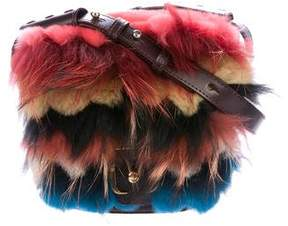 Paula Cademartori Fur-Trimmed Beth Shoulder Bag
