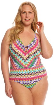 Bleu Rod Beattie Plus Size In Living Color Plunge XBack One Piece Swimsuit - 8152767