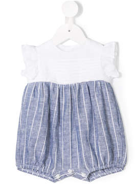 Il Gufo striped and ruffled shorties