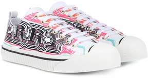 Burberry Doodle printed leather sneakers