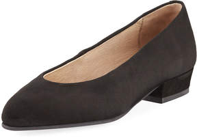 Sesto Meucci Suede Low-Heel Slip-On Pump, Black