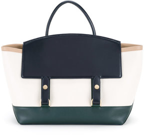 Sacai tri-coloured tote bag