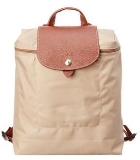 Longchamp Le Pilage Nylon Backpack. - BEIGE - STYLE