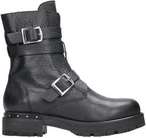 Julie Dee Black Leather Boots