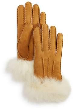 UGG Sheepskin Fur Cuff Gloves