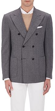 Luciano Barbera MEN'S WOOL DOUBLE-BREASTED SPORTCOAT