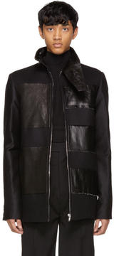 Rick Owens Black Stripe Brother Jacket