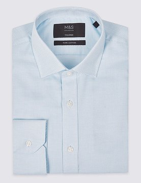 Marks and Spencer Pure Cotton Easy to Iron Tailored Fit Shirt