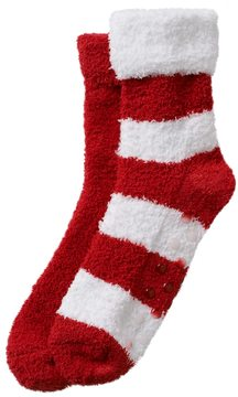 Earth Therapeutics 2-pk. Striped and Solid Shea Butter Socks