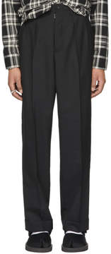 Maison Margiela Black Wool Pleated Trousers