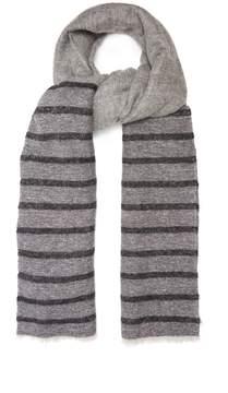 Brunello Cucinelli Striped woven scarf
