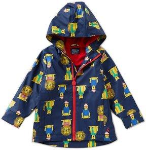 Joules Little Boys 1-3 Lion-Print Rain Coat