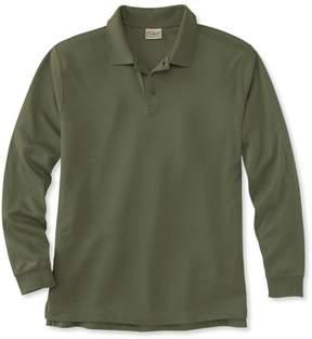 L.L. Bean L.L.Bean Pima Cotton Polo, Traditional Fit Long-Sleeve