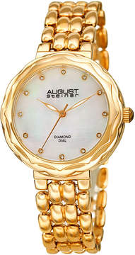 August Steiner Womens Gold Tone Strap Watch-As-8248yg