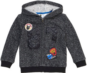 Petit Lem Zip-Front Hoodie w/ Rock-&-Roll Patches, Size 2-6X