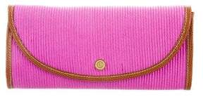 Eric Javits Karung-Trimmed Straw Clutch