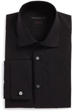 John Varvatos Men's Slim Fit Stretch Solid Dress Shirt
