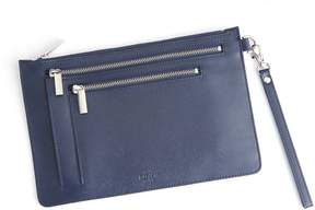 Royce Leather Royce Blue RFID Blocking Cross Body Bag