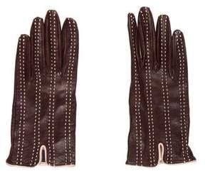 Saks Fifth Avenue Leather Wrist Gloves