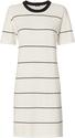 Monrow Athletic Knit T-Shirt Striped Dress