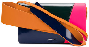 Delpozo colourblock clutch with handle