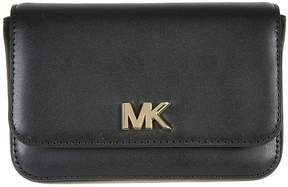 Michael Kors Logo Plaque Belt Bag - BLACK - STYLE