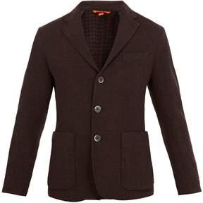Barena VENEZIA Square-jacquard single-breasted wool-blend blazer