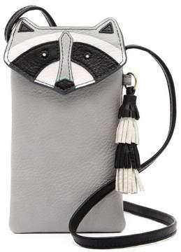 Fossil Raccoon Leather Phone Crossbody Bag