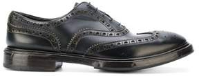 Premiata Men's Black Leather Lace-up Shoes.