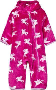 Hatley Pink Unicorn Fleece Bundler
