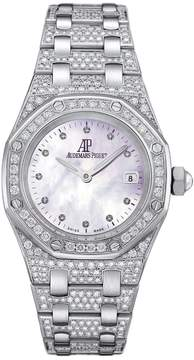 Audemars Piguet Royal Oak Diamond Mother of Pearl Dial Diamond and White Gold Ladies Watch