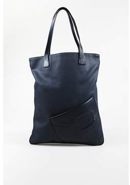 Bally Pre-owned Navy Blue Canvas & Leather Trimmed Shoulder Bag.