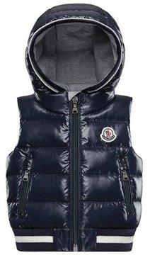 Moncler Larry Hooded Sleeveless Vest, Size 12M-3T