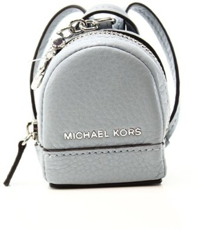 Michael Kors Gray Dove Pebble Leather Mini Rhea Backpack Charm - GRAYS - STYLE