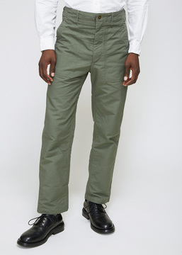 Engineered Garments Olive Double Cloth Fatigue Pant