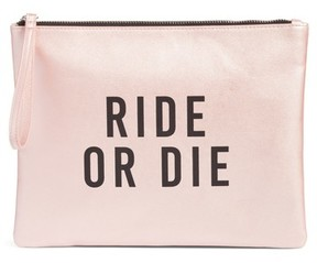 T-Shirt & Jeans Ride Or Die Charging Clutch - Pink