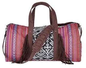 San Diego Hat Company Women's Ethnic Print Weekender Bag Bsb1543.