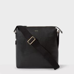 Paul Smith Men's Black Leather 'New City' Small Cross-Body Bag