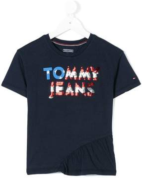 Tommy Hilfiger Junior sequin logo T-shirt