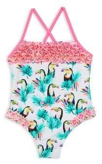 Billieblush Toddler's, Little Girl's& Girl's Toucan-Print One-Piece Swimsuit