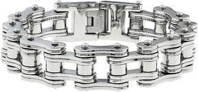 JCPenney FINE JEWELRY Mens Stainless Steel Motorcycle Bracelet