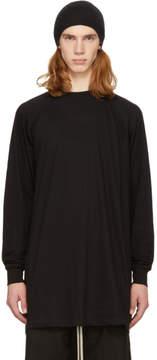 Rick Owens Black Long Sleeve Baseball T-Shirt