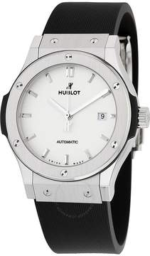 Hublot Classic Fusion White Dial Black Rubber Men's Watch