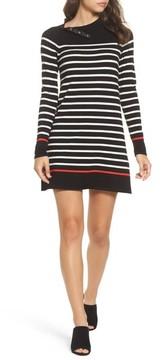 Eliza J Women's Mockneck Stripe Shift Dress