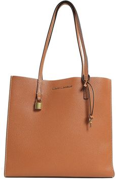 Marc Jacobs The Grind Leather Shopping Bag - CUOIO - STYLE