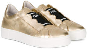 Fendi logo slip on sneakers