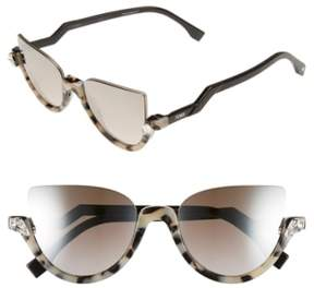 Women's Fendi 52Mm Sunglasses - Havana/ Shiny Black