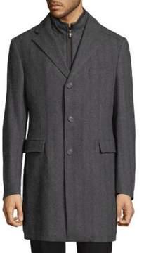 Corneliani Herringbone Notch Coat